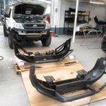 lm smash repair bull bar install paint