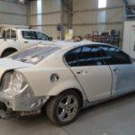lm smash rear end damage repair